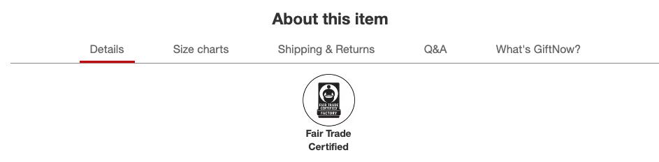Fair Trade Denim at Target