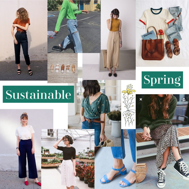sustainable spring wardrobe colorful