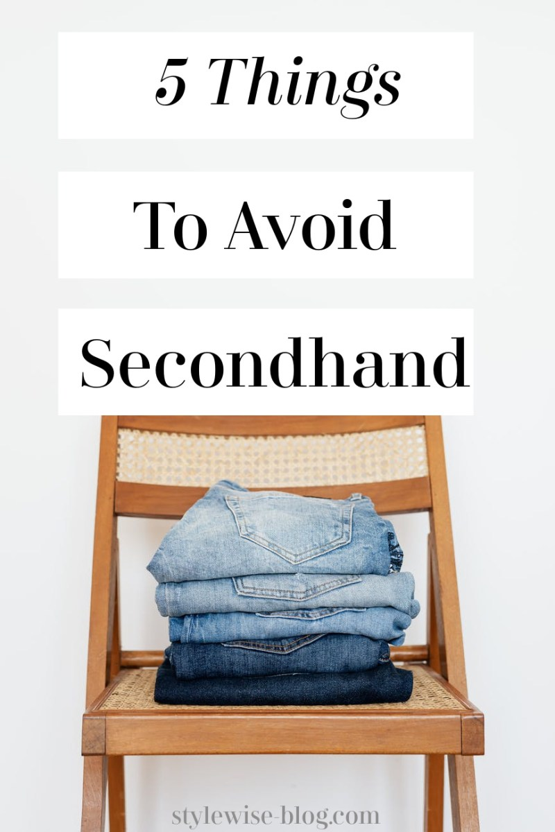 Things to Avoid Buying Secondhand