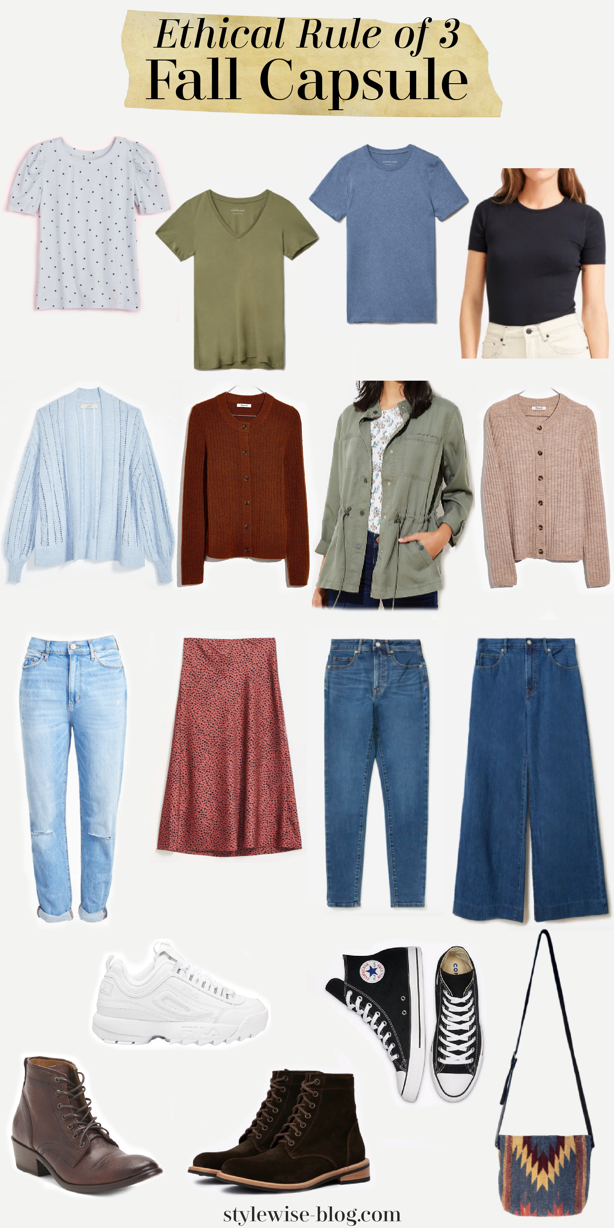 ethical rule of 3 slow fashion fall capsule