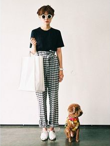 spring capsule 2021 inspiration - gingham pants