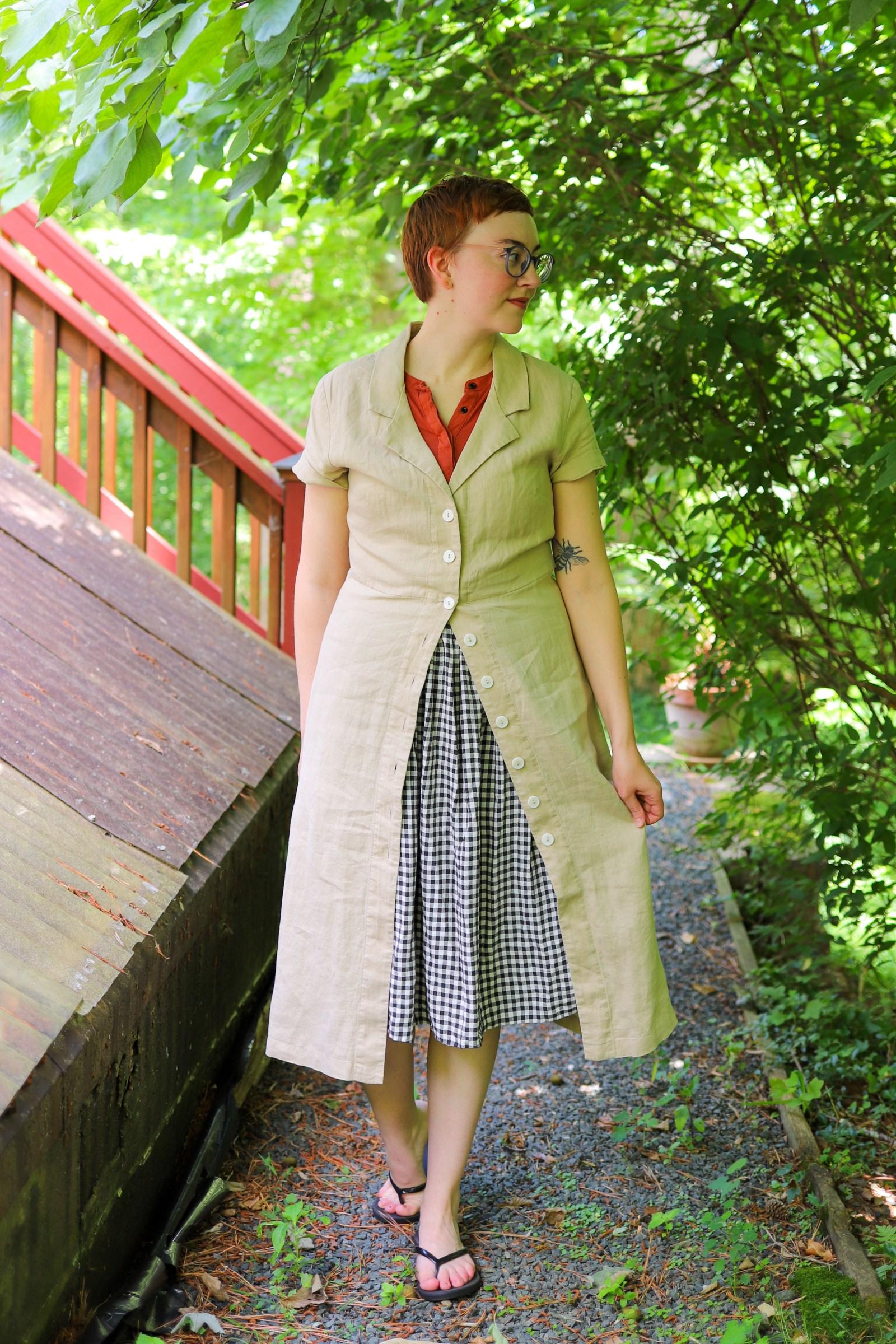 Quince Linen Dress review - organic linen shirtdress