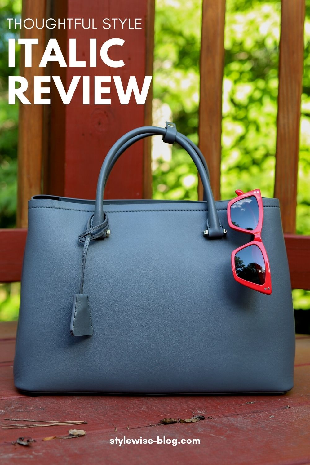 Italic Review: Clarice Tote, Sunglasses, Boxy Cropped Tee Pinterest