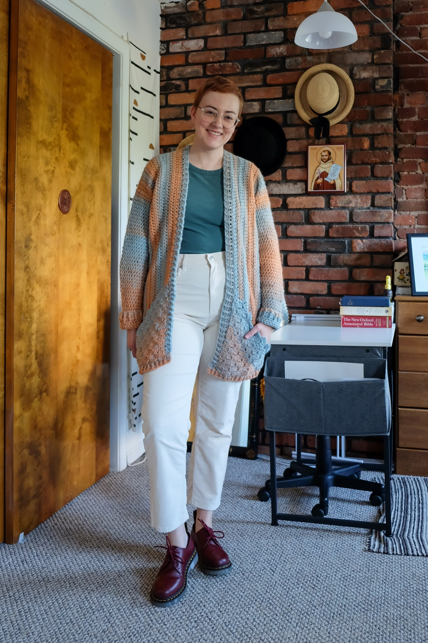 Things My Mom Crocheted for Me - Cardigan