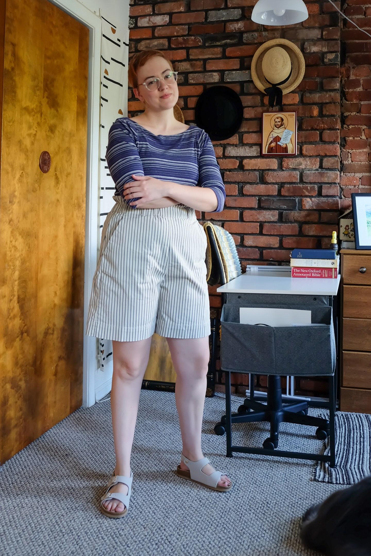 secondhand september everlane paperbag shorts